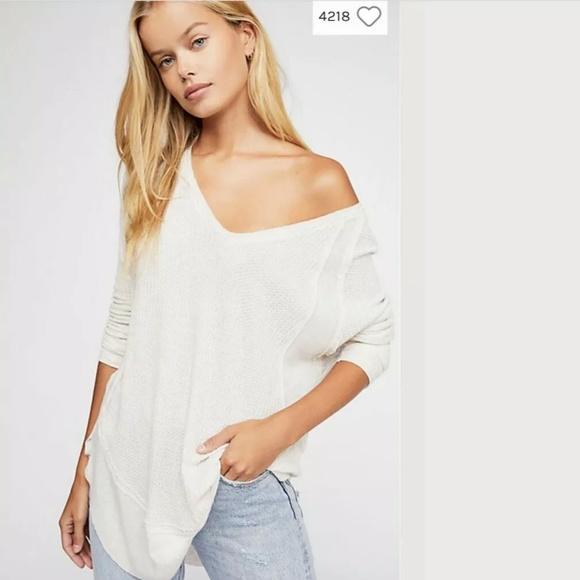 Free People Tops - Free People We the Free Catalina Thermal Oatmeal S